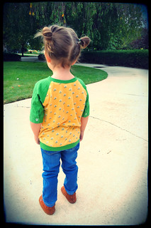 Refashioned toddler raglan top