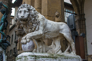 Medici Lion by Flaminio Vacca (2nd century A.D.)