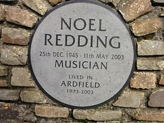 Photo of Noel Redding stone plaque