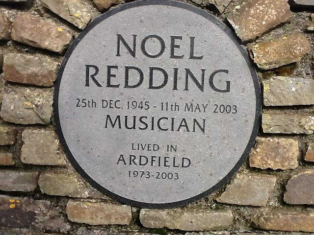 Noel Redding plaque, Ardfield