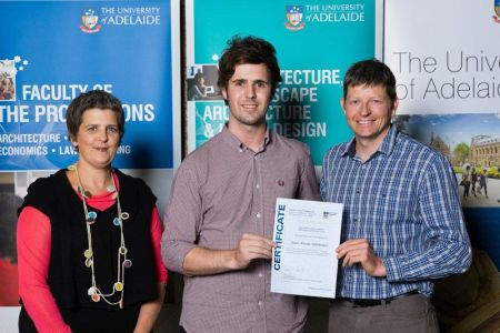 2011 Winner: James Thomson  Presented by Damian Schultz (Studio Principal)  & Ms Tanya Court (Acting Head of School)