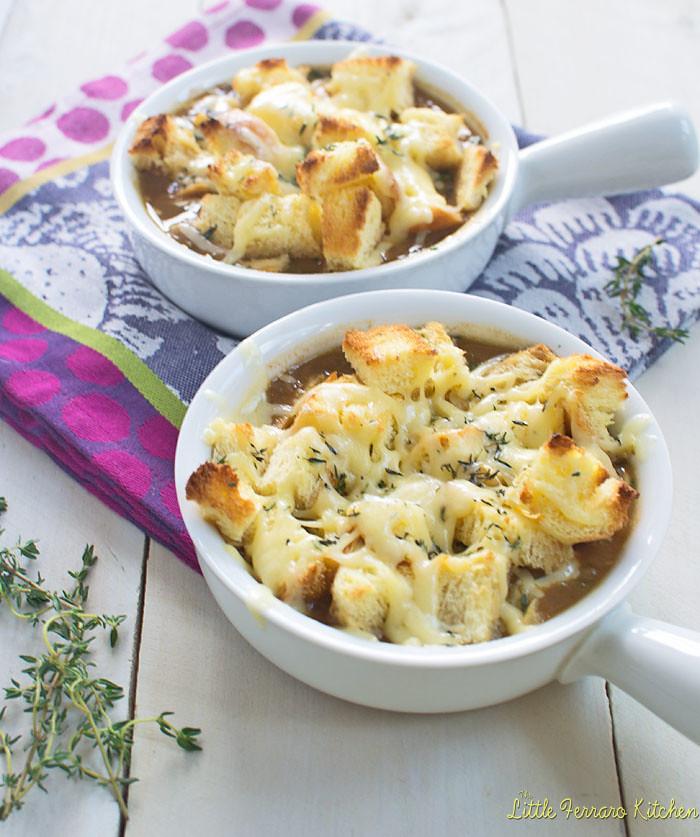 Almost Classic French Onion Soup via LittleFerraroKitchen.com