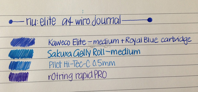Nu Elite A4 Wire Journal