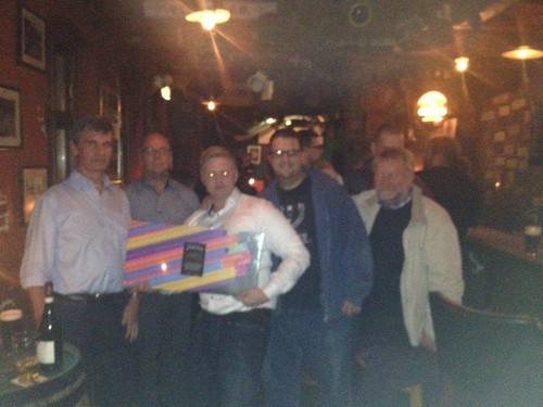Team Joint Venture win the pub quiz at Paddy Go Easy, Esbjerg