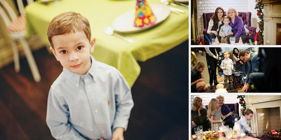 Фотокнига. Егоркин День Рождения в семейном кафе Андерсон. Фотограф Ирина Марьенко.