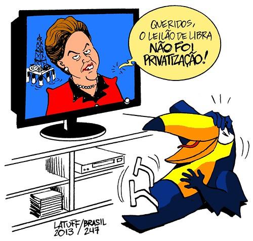 Dilma e a privatização do Campo de Libra, por Carlos Latuff