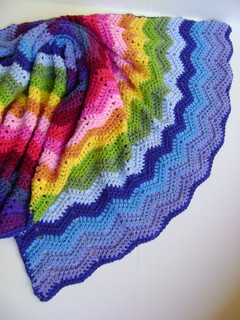 Technicolor Wave Blanket