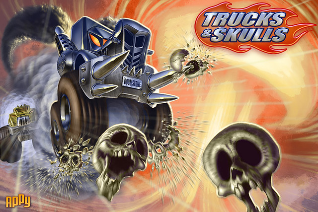 Trucks and Skulls on PS Mobile