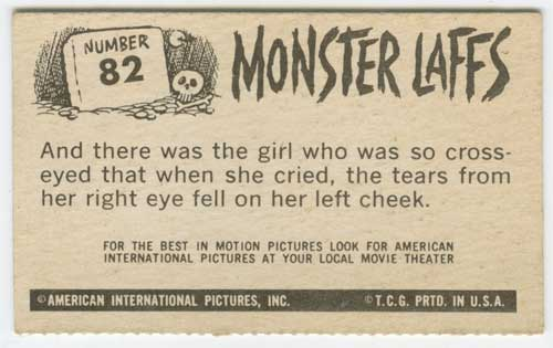 1963 Topps Monster Laffs Midgees #82 back