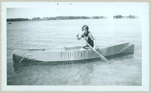 Woman in a canoe