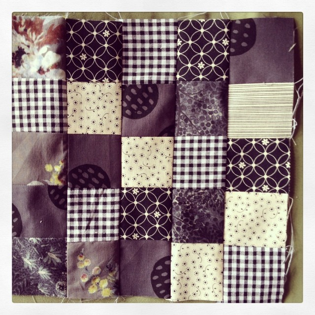 Grey quilt block 2. All ready to post.