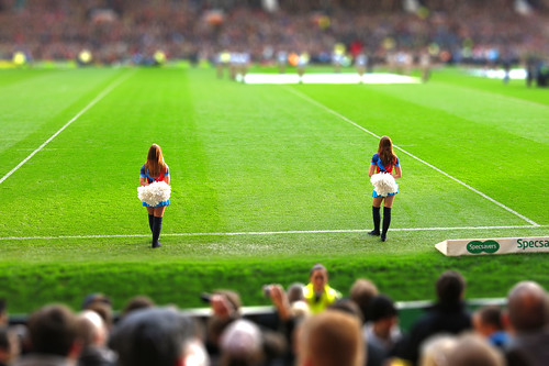 Cheerleaders - fake tilt shift