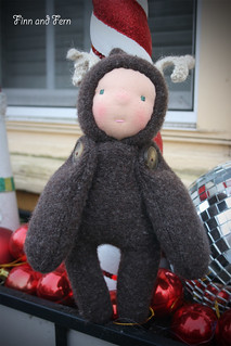 Rudy - a 9 inch Waldorf Inspired Reindeer