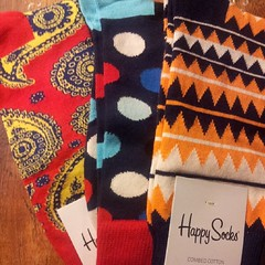 Present from #sinterklaas (the real #santa) #happysocks