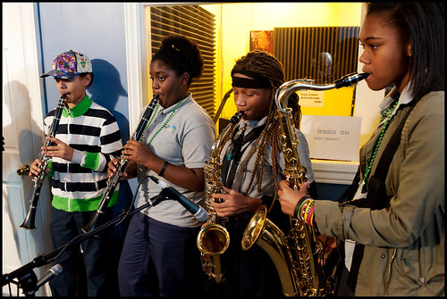 Kyle Deyarmett, Veronica Fernandez, Chante Jones and Angela Russell of the ReNew Cultural Academy.  Photo by Ryan Hodgson-Rigsbee www.rhrphoto.com