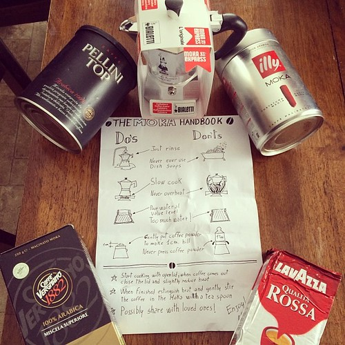 Moka Pot Kit with hand sketchnoted instructions from Mauro Toselli @xLontrax