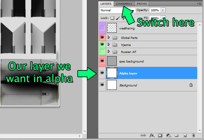 Tutorial: Working with alpha channel in Photoshop  - The Paint Shop