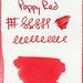 Small photo of De Atramentis Poppy Red Ink Swatch
