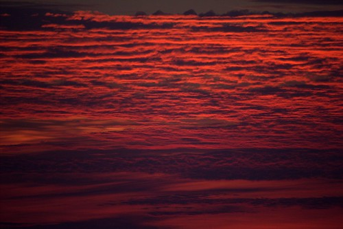An Unusual cloud formation brightened by the twilight, Trivandrum beach IMG_1517,1,sm by Flashback'r