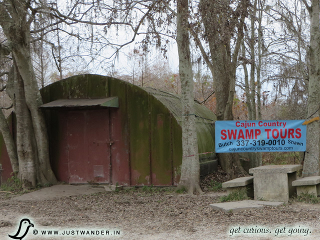 PIC: Meeting area for Cajun Country Swamp Tours