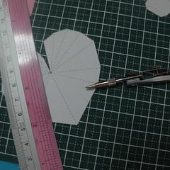 วิธีทำของเล่นโมเดลกระดาษรูปหัวใจ 003