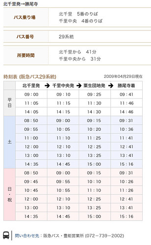 勝尾寺アクセス