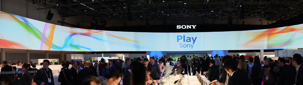 Amazing Sony booth