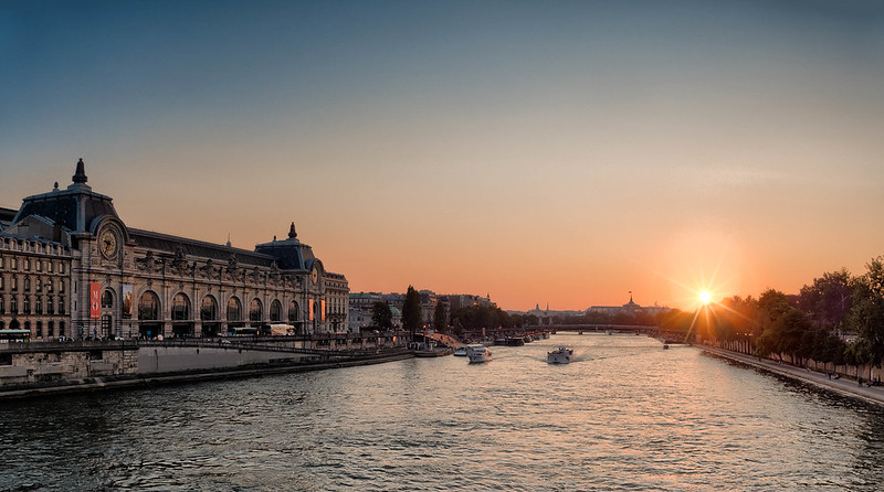 Sunset on the Seine