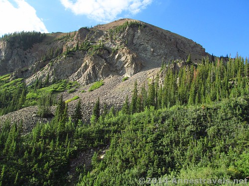 Cliffs along the Cathedral Lake Trail, White River National Forest, Colorado