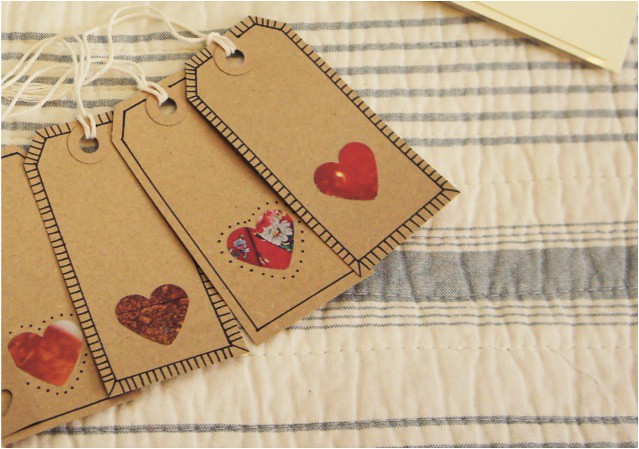 diy valentines tags