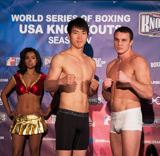 16/01/2014 Weigh In USA Knockouts vs Ukraine Otamans