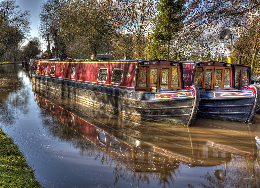 Canal boats - Stoke Prior, Worcester & Birmingham canal