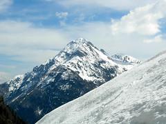 Foto per 7. La piramide innevata del monte Polinik vista dalla Obere Valentin Alm