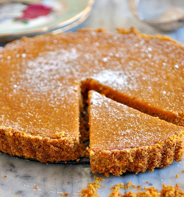 Pumpkin & Coconut Tart - A Gluten Free Baking Recipe | www.fussfreecooking.com