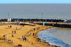 People out enjoying the sunshine