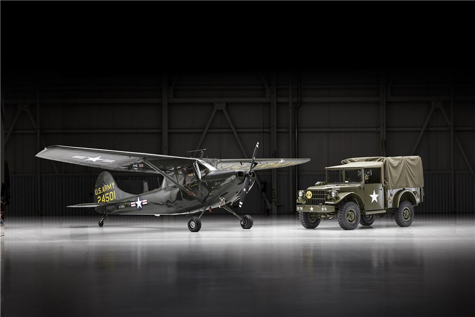 Dodge M37 and L-19 Bird Dog