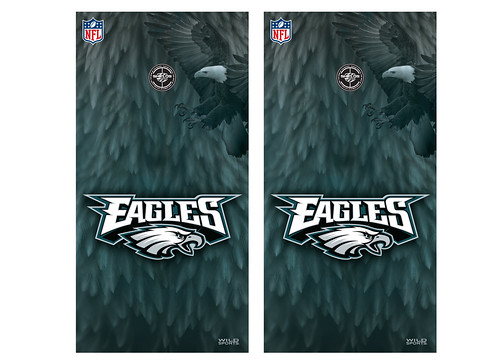 Philadelphia Eagles Cornhole Game Decal Set