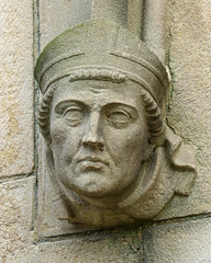 Face on Wakefield Cathedral