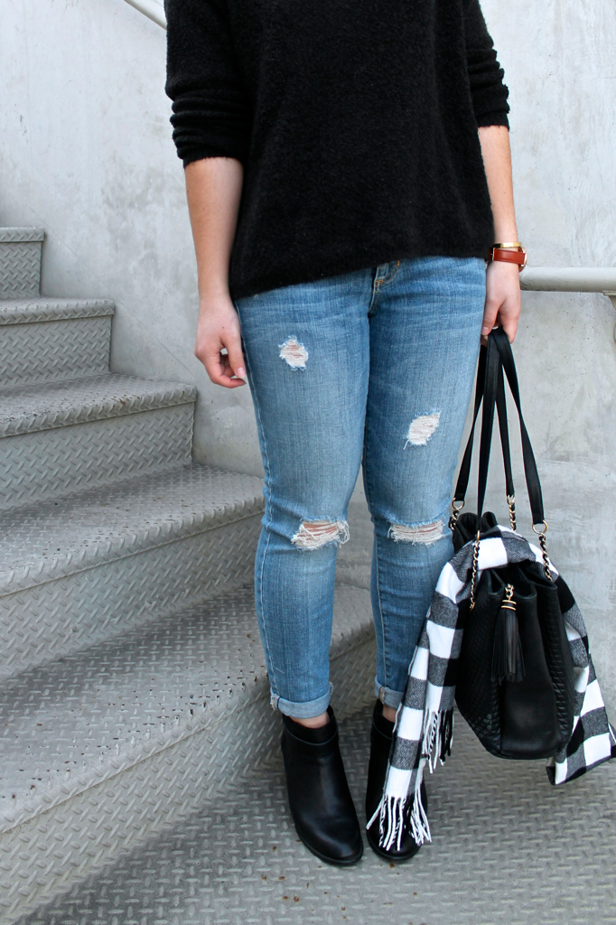 how to style destroyed denim