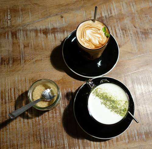 Mocha Mint & Matcha Latte at RONIN