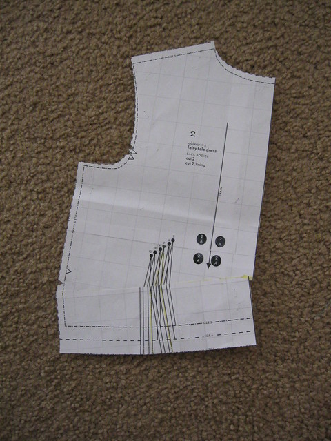 back bodice sway back adjustment