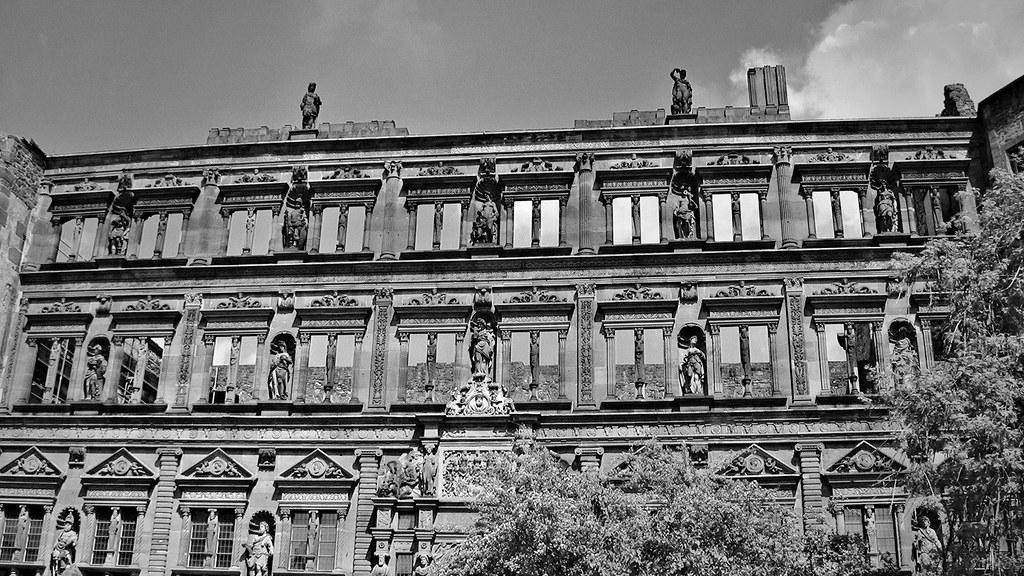 Germany - Heidelberg, Ottheinrichsbau im Schloss , 70179/3431