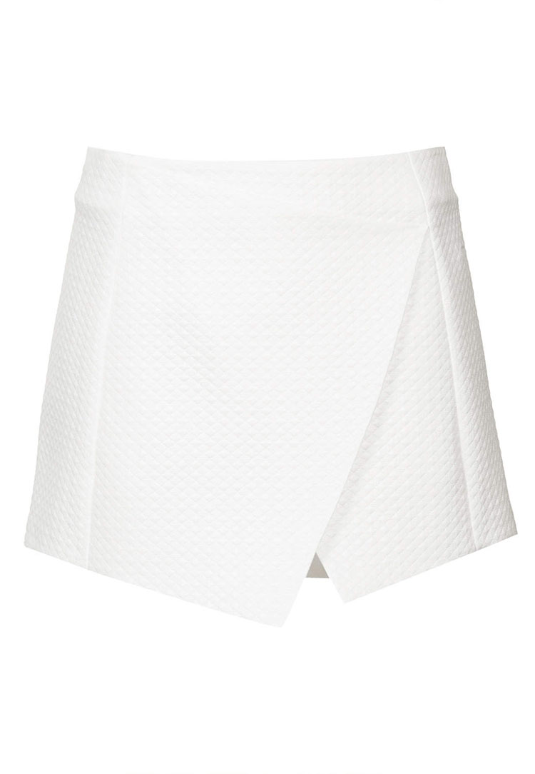 TOPSHOP Diamond Wrap Skort