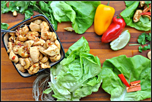 Cashew Chicken Lettuce Wraps 3