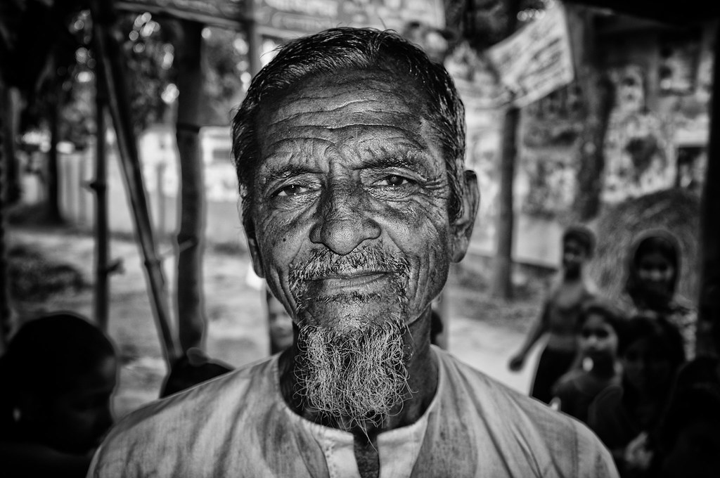 Old man in a village outside Dhaka, Bangladesh
