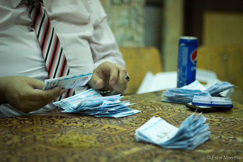 Counting votes for the 2014 Egyptian presidential elections