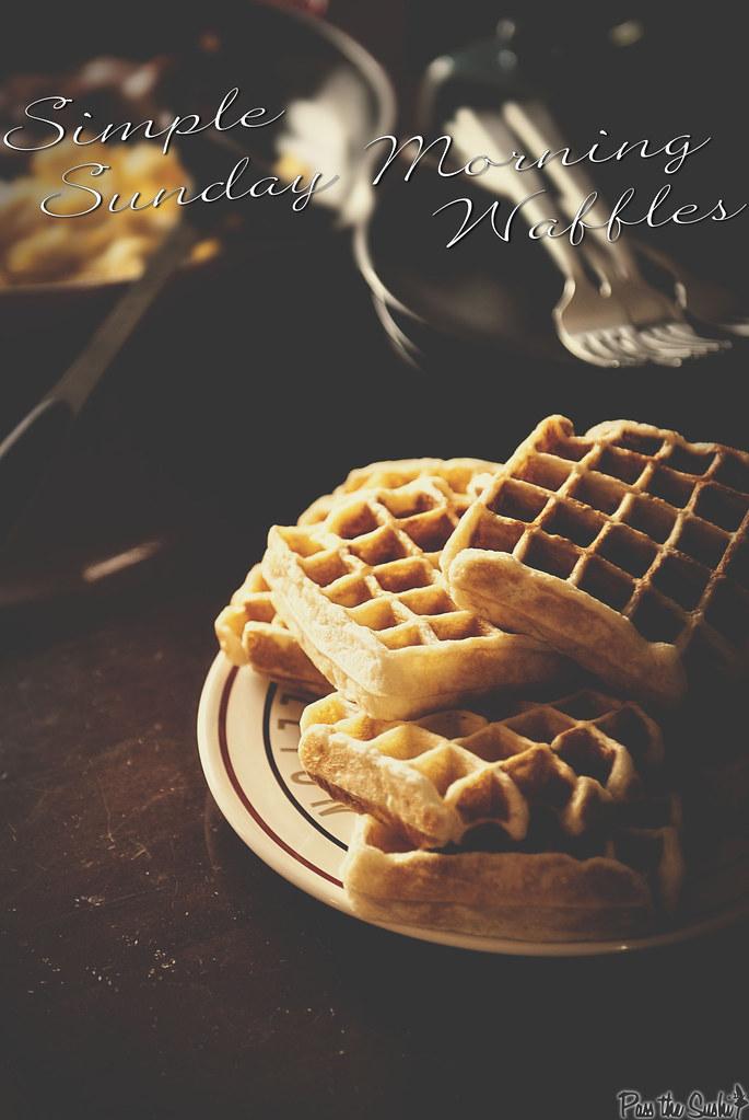 Simple Sunday Morning Waffle Recipe \\ PasstheSushi.com