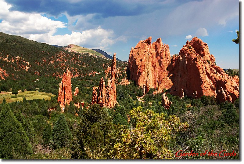 Looking down Garden of The Gods from Sleeping Giant