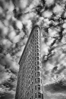 Image of Flatiron Building near City of Hoboken. newyorkcity blackandwhite monochrome manhattan flatironbuilding skyporn mobilephotography shotwithaniphone6