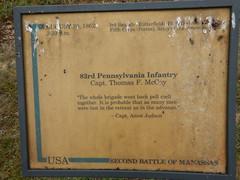 DSCN1889 153 Groveton Monument, signs, bench